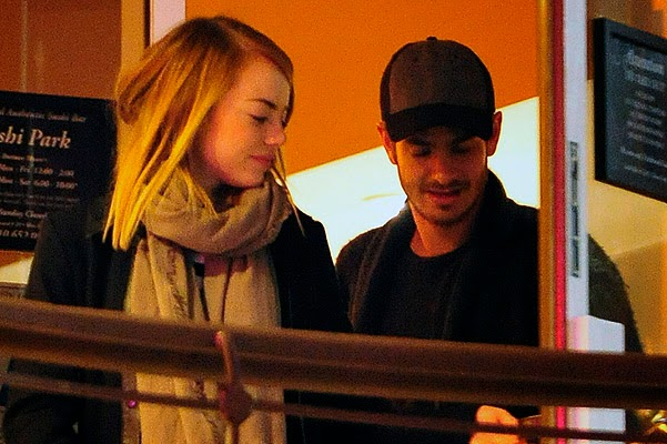 Emma Stone and Andrew Garfield on a date in Los Angeles