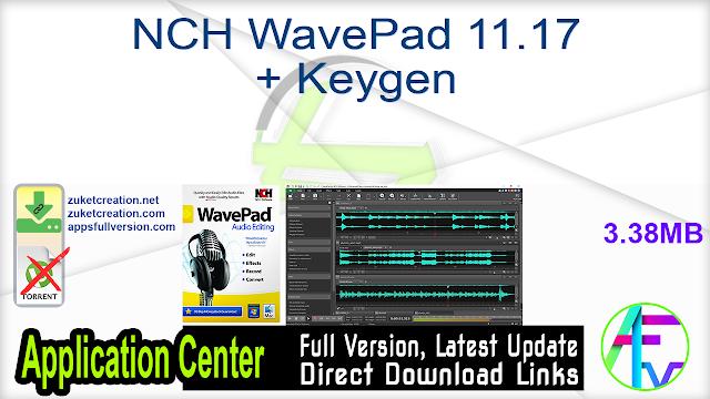 NCH WavePad 11.17 + Keygen