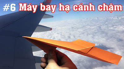 Cách gấp, xếp máy bay giấy rơi xa và hạ cánh rất chậm bằng giấy A4 ✈ Origami Paper Plane #6