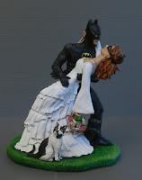 statuine torta matrimonio a tema fumetti cartoni animati orme magiche