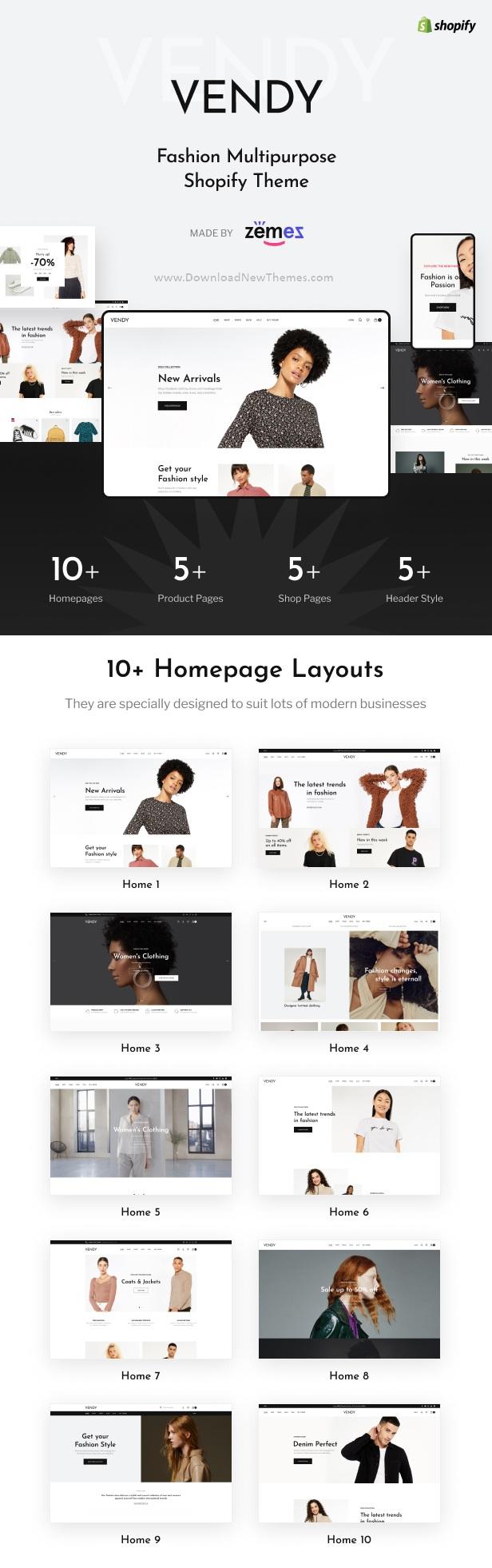 Multipurpose Shopify Theme for Fashion