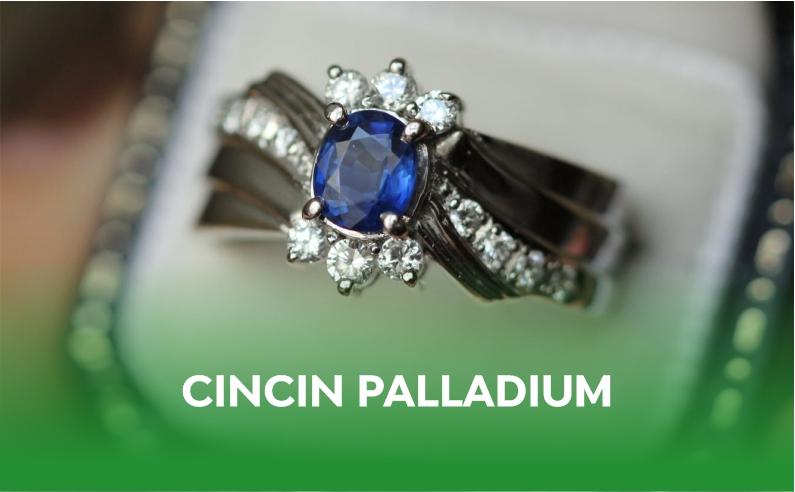 Cincin Bahan Palladium