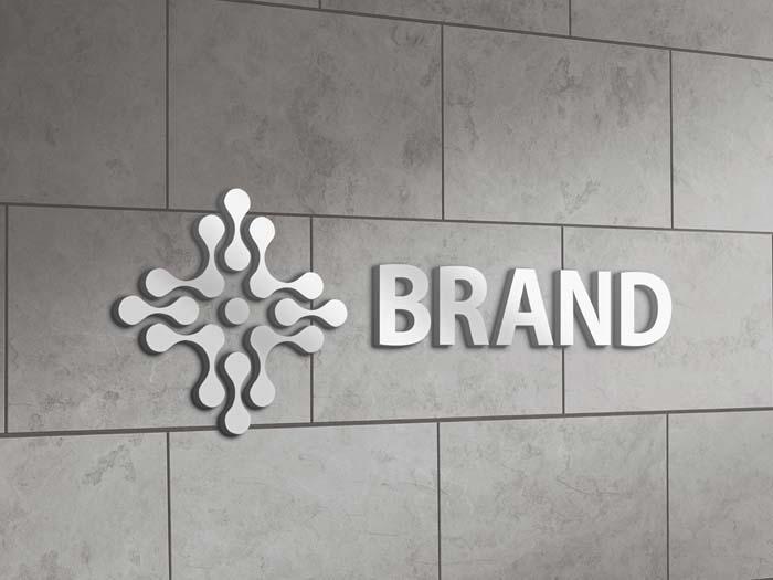 Metallic Logo Mockup Tile Wall
