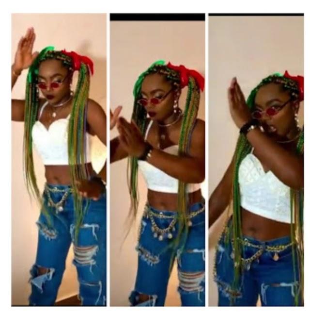Chioma apkota dances to the music celebriting omoghetto