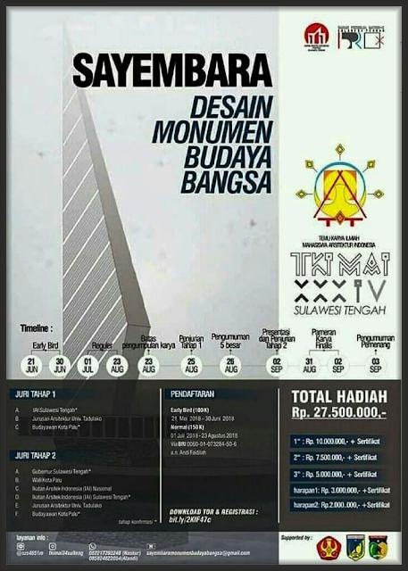 """Sayembara Nasional Arsitektur 2018 """"Desain Monumen Budaya Bangsa"""""""