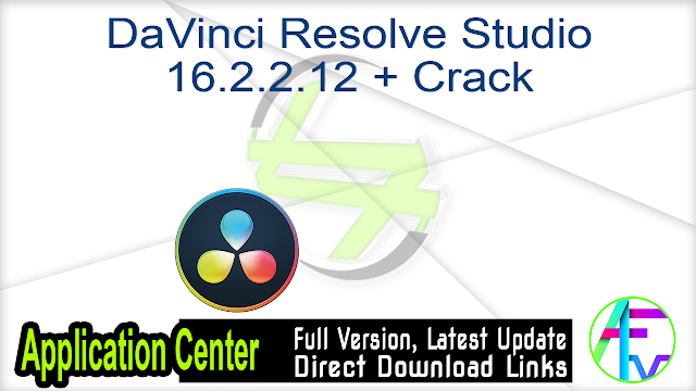 DaVinci Resolve Studio 16.2.2.12 + Crack