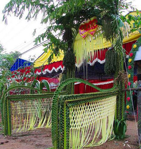 Dịch vụ trang trí cổng cưới bằng lá dừa với nhiều mẫu mẫu cổng cưới bằng lá dừa đẹp