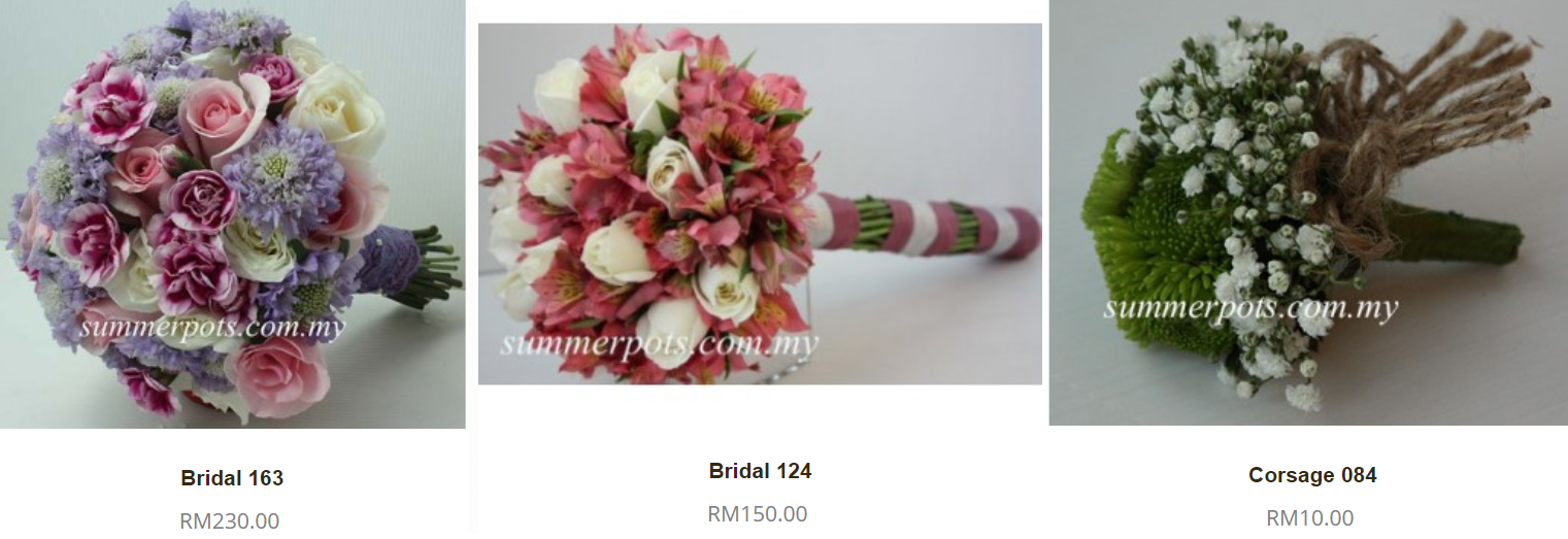 bridal bouquet price malaysia