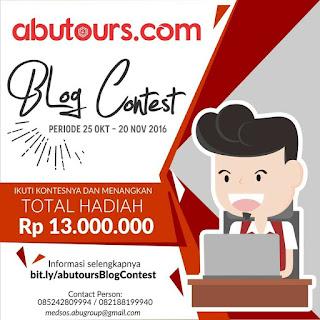 Blog Contest Abutours.com, Hadiah 13 Jt