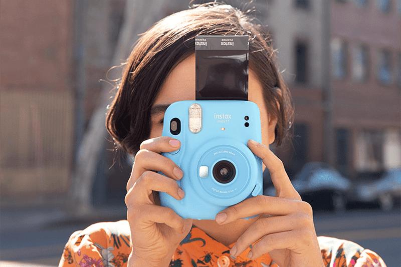 Fujifilm Mini 11 in Sky Blue (Photo from Fujifilm's website)