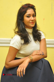 Telugu Actress Sindhu Affan Latest Pos in Black Skirt at Www.Meena Bazaar Movie Opening  0025.JPG
