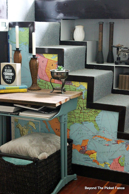 Add a Pop of Color to a Wall with an Old Map