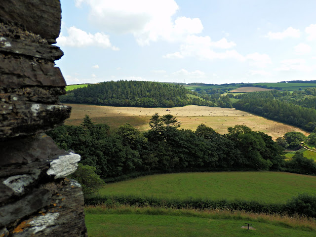 Views from top of Restormel Castle