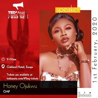 Popular OAP and Entrepreneur Honey Ojukwu set to speak in TedXAsata, Enugu State