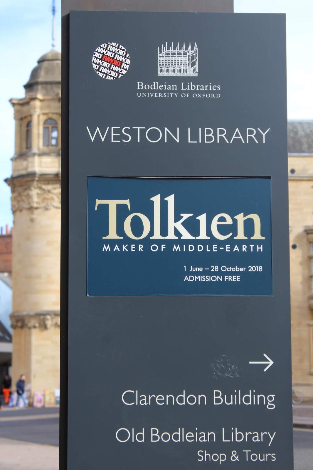Tolkien, Oxford, näyttely