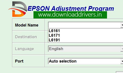 Download Epson Resetter, L6161, L6171, L6191 adjustment tool, Epson L6161 reset tool, Waste ink pad reset, service required, Epson L6161 resetter