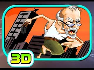 permainan online Grandpa Run 3D