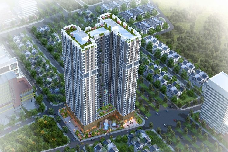 Phối cảnh chung cư Phú Thịnh Green Park
