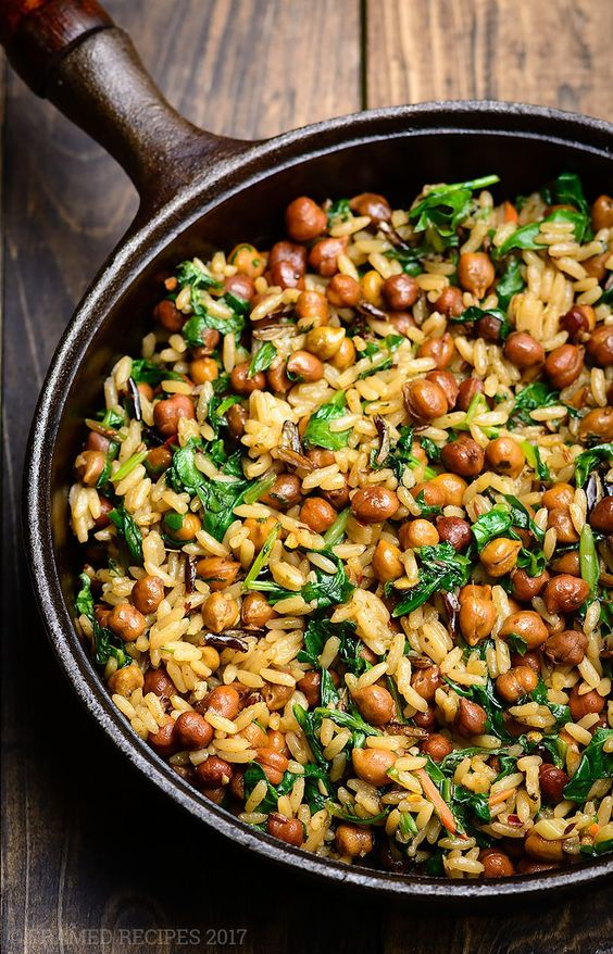 Wild Rice with (Black) Garbanzo Beans #recipes #vegetable #vegetablerecipes #food #foodporn #healthy #yummy #instafood #foodie #delicious #dinner #breakfast #dessert #lunch #vegan #cake #eatclean #homemade #diet #healthyfood #cleaneating #foodstagram