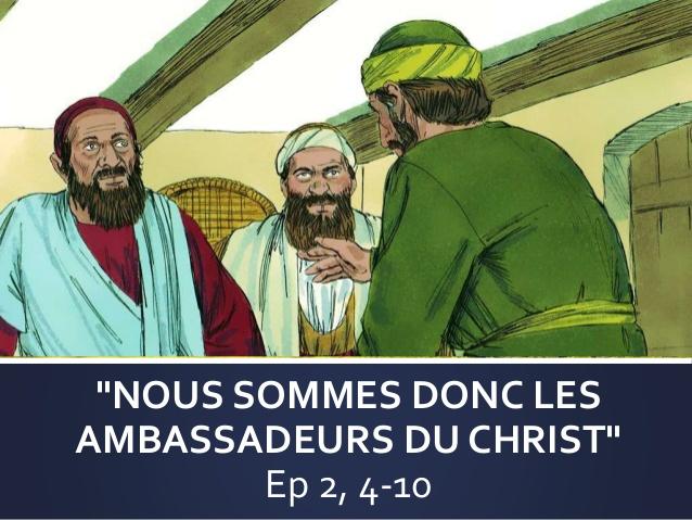 """DIAPORAMA : LECTURE DE SAINT PAUL : """"Nous sommes donc les ambassadeurs du Christ"""""""