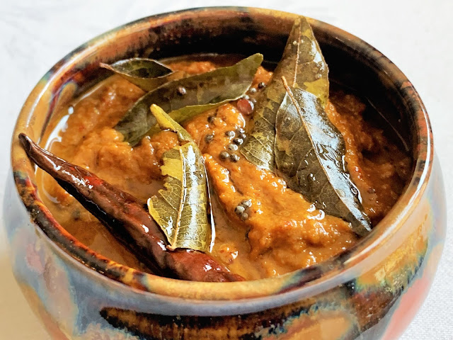 ginger, tamarind, pickle, chutney, red chilies, curry leaves