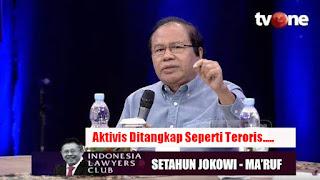 Didepan Mahfud dan Moeldoko, Rizal Ramli Ngamuk: Aktivis Diborgol, Taipan Brengsek Tidak
