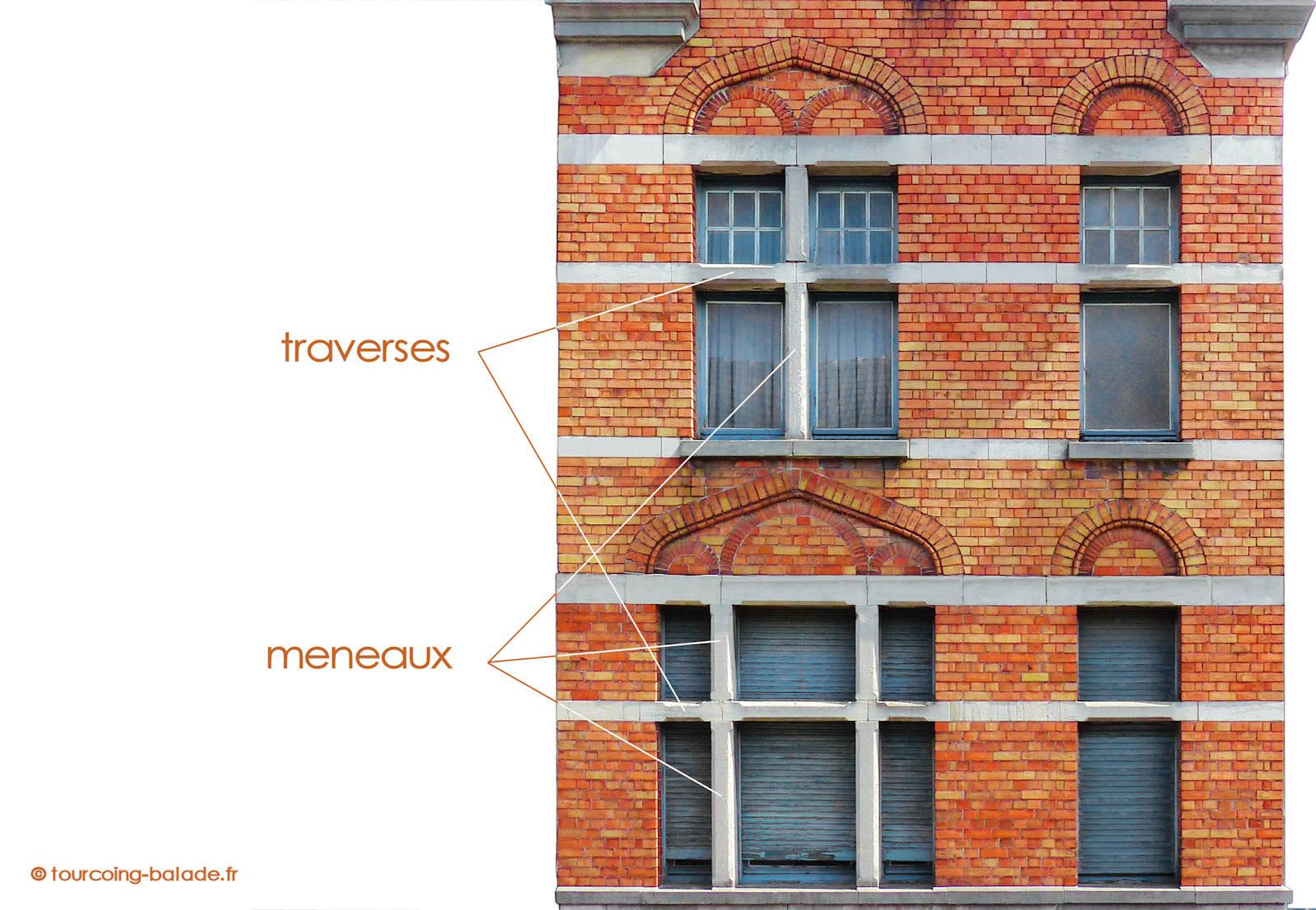 Fenêtre à croisée (meneaux et traverses) - Tourcoing Blanc Seau, 2019