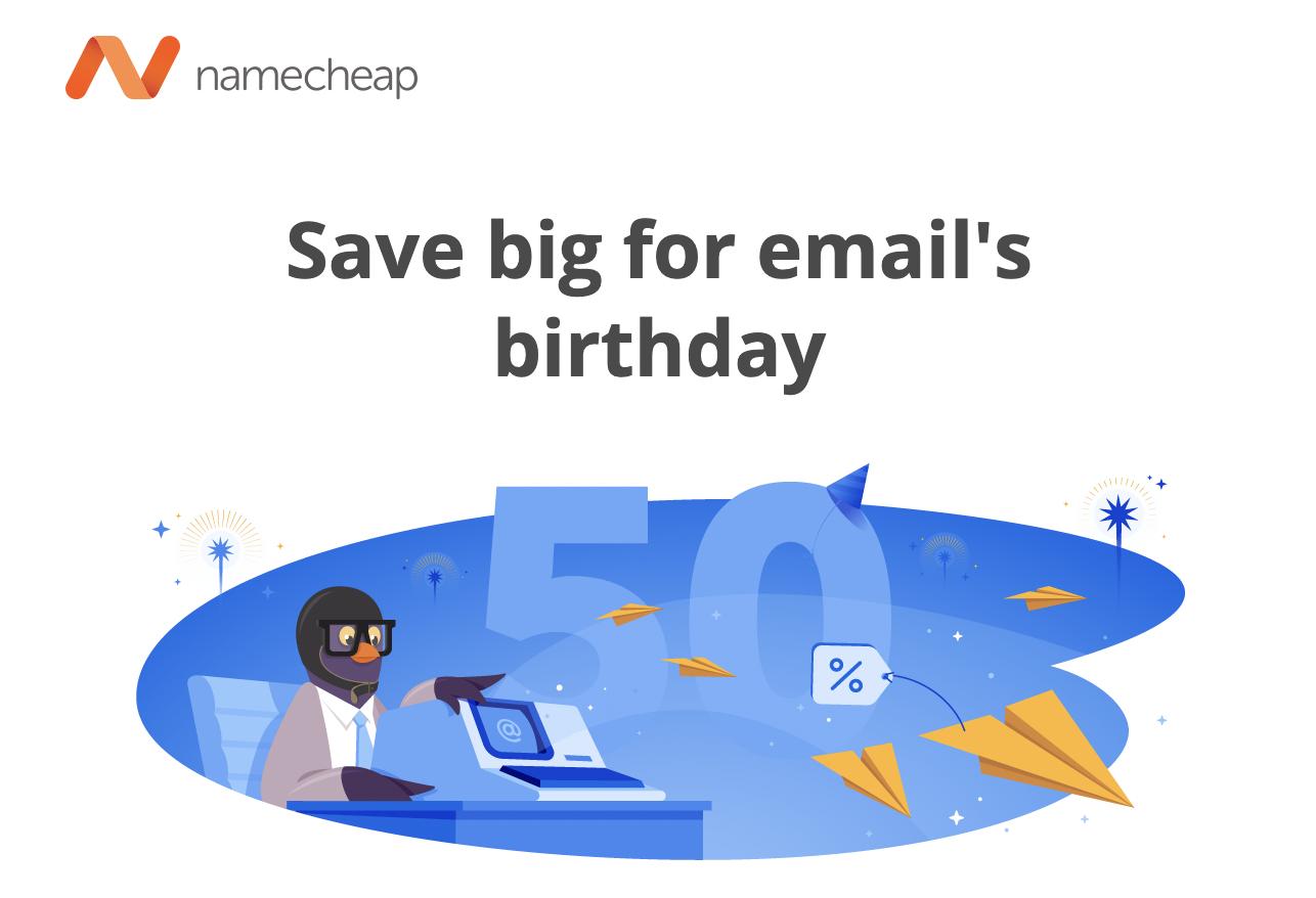 namecheap discount email
