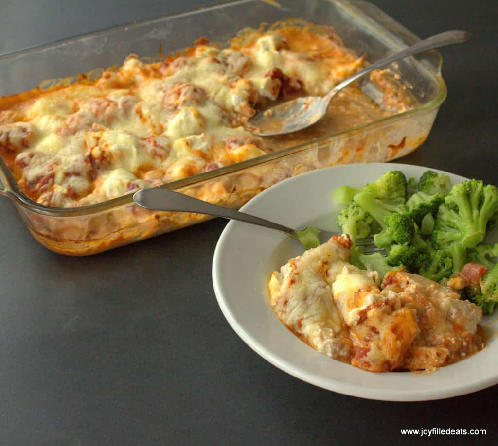 PIZZA CHICKEN CASSEROLE – 5 INGREDIENTS, LOW CARB, KETO