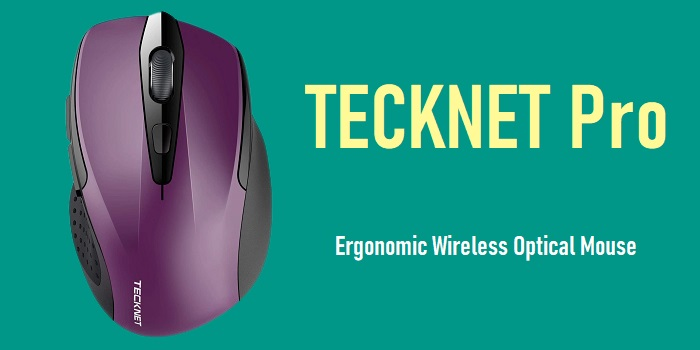 TECKNET Pro - Ergonomic Wireless Optical Mouse