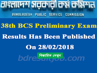 Public Service Commission (PSC) 38th BCS Preliminary results