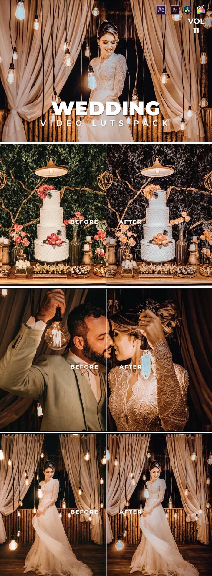 Wedding Pack Video LUTs Vol.11