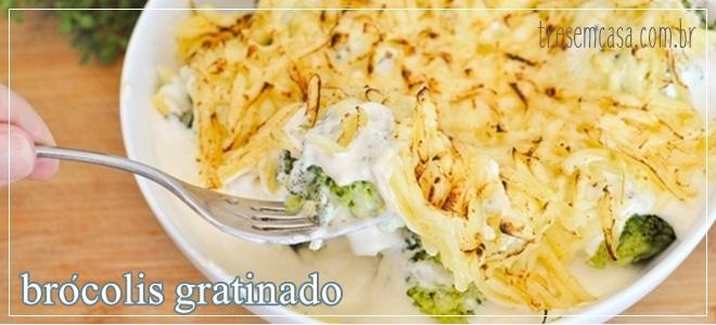 receita de brócolis gratinado com molho branco