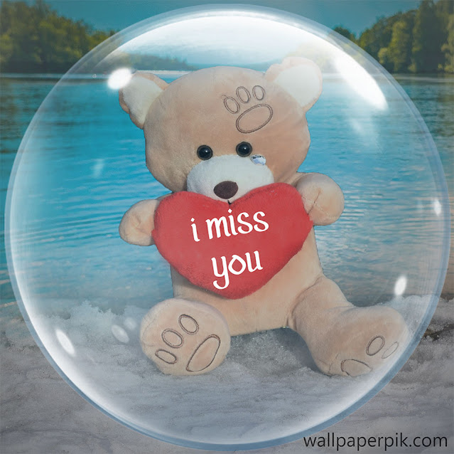 i miss you wallpaper teddy image  for girl friends