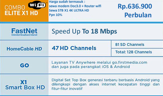 PROMO FIRST MEDIA PAKET COMBO ELITE X1 4K ULTRA HD