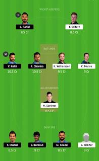 Dream 11 Team IND vs NZ