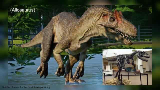 allosaurus, dinosaurus karnivora ganas