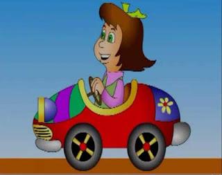 alicia va en el coche rima larga