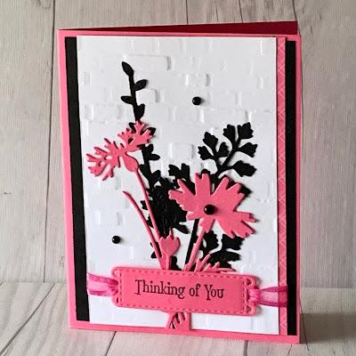 Floral handmade greeting card using Stampin' Up! Quiet Meadow BundleItem#155847
