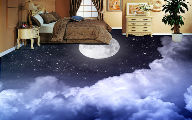 bedroom 3D flooring themes - self leveling floors