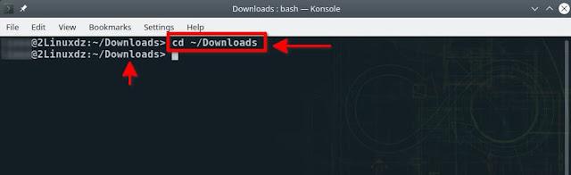 """داخل المجلد """"Downloads"""""""