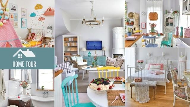 Ένα πραγματικά ...χαρούμενο σπίτι, γεμάτο χρώμα
