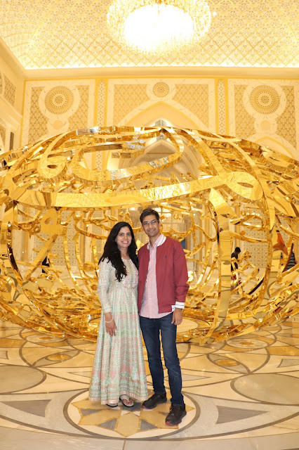 Aashish & Shradha Rai at Qasr Al Watan, Abu Dhabi in Feb 2020