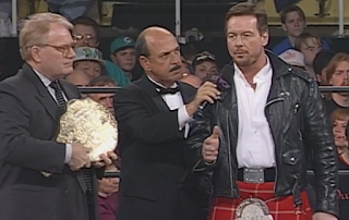 WCW Souled Out 1998 - JJ Dillon and Rowdy Roddy Piper announced Hogan vs. Sting II for Superbrawl