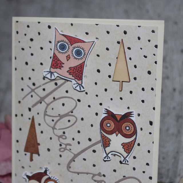 [DIY] Eulentreff  Grußkarte für Eulenliebhaberinnen