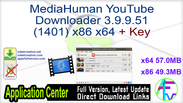 MediaHuman YouTube Downloader 3.9.9.51 (1401) x64 x86 + Key