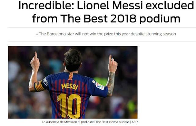 """""""The Best"""" hạ bệ Messi: Báo chí sốc nặng, ám chỉ FIFA thiên vị Ronaldo 2"""
