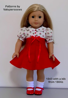 "18"" doll clothes pattern by valspierssews. Variation on 1843 to fit American Girl Doll"