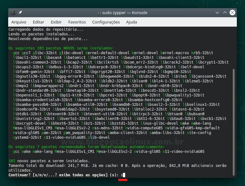 Instalando o driver NVIDIA das séries GeForce 600 no openSUSE Leap 15.3