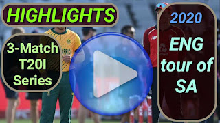 South Africa vs England T20I Series 2020